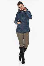 Брендовая синяя куртка женская модель 63045, фото 2