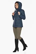 Брендовая синяя куртка женская модель 63045, фото 3