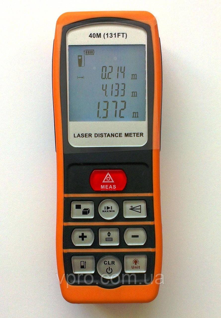 Далекомір лазерний (лазерна рулетка) JT-40D (0.2 - 40м) IP54