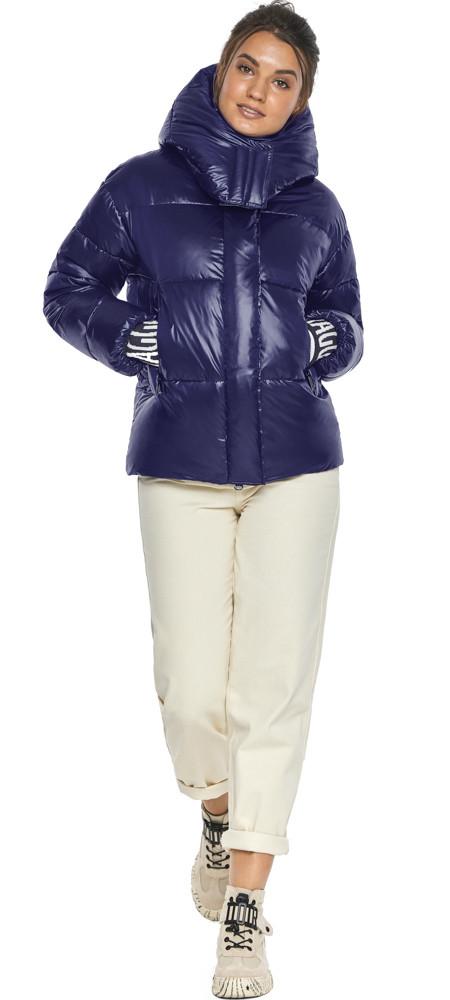 Куртка синяя трендовая женская модель 44520
