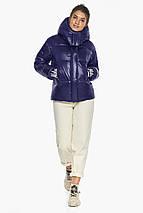 Куртка синяя трендовая женская модель 44520, фото 2