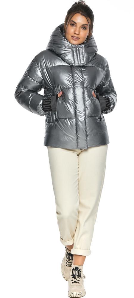 Куртка с ветрозащитным клапаном женская цвет серебро модель 44520