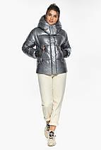Куртка с ветрозащитным клапаном женская цвет серебро модель 44520, фото 2