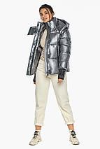Куртка с ветрозащитным клапаном женская цвет серебро модель 44520, фото 3