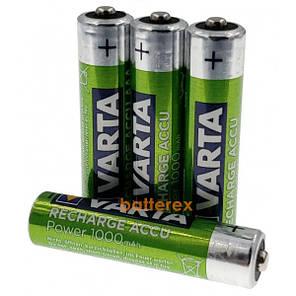 Аккумуляторы AAA аккумуляторные батарейки Varta Ready-to-use 1000 mAh 4 шт, фото 2