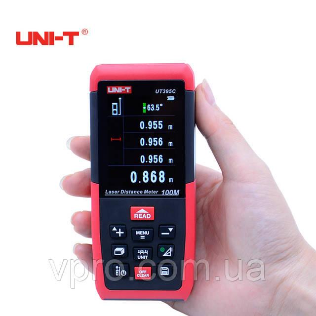Професійний лазерний далекомір ( лазерна рулетка ) UNIT UT395C (0,05-100 м)