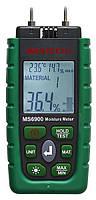 Вологомір деревини і будівельних матеріалів Mastech MS6900 (0-60%) (-10.0 - 50.0 °C) (10... 90%) з 7 режимами, фото 1