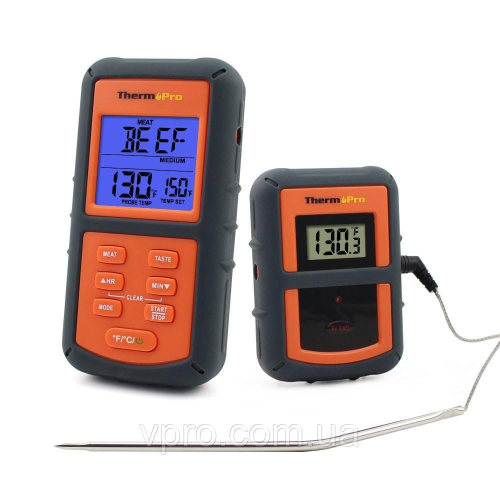 Бездротовий термометр (до 100 м) ThermoPro TP-07 (0-300 °С) у прогумованому корпусі