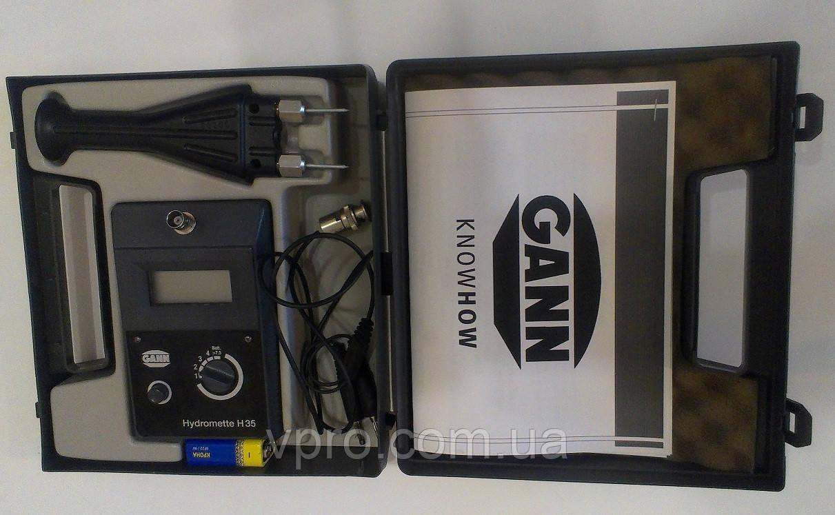 Голчастий вологомір Gann H35 (0-33%) з ударостійким електродом М20 для 100 порід. Німеччина