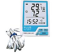 Цифровий термо-гігрометр Flus FL-201W (-20-60 С; 10%...99%) з виносним датчиком ( -40...+80°C), фото 1