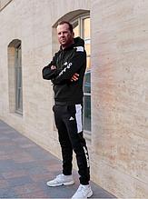 Костюм Adidas на флисе черный