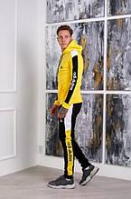 Костюм Adidas на флисе желтый