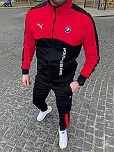 Спорт костюм Puma BMW чорний красний