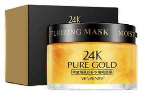 Нічна маска для обличчя Venzen Pure Gold 24 K Luxury Effect 100 мл
