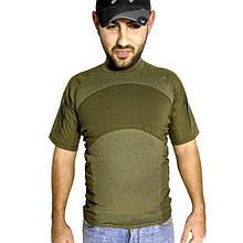 Тактическая футболка с коротким рукавом Lesko A424 размер XXL Зеленый (4253-12505)