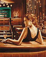 Картина за номерами Леді за барною стійкою 40х50 Brushme (Без коробки) расскраска за номерами
