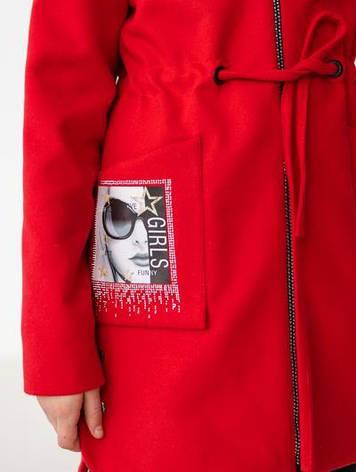 Пальто прінтованое кашемірове для дітей, фото 2