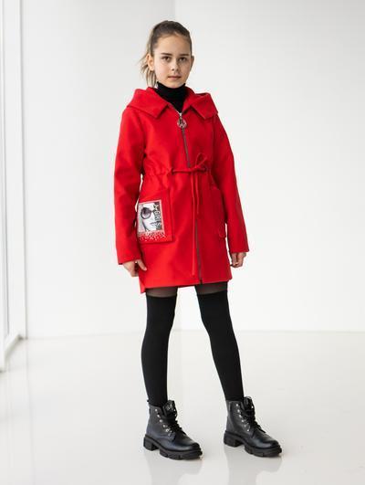 Пальто прінтованое кашемірове для дітей