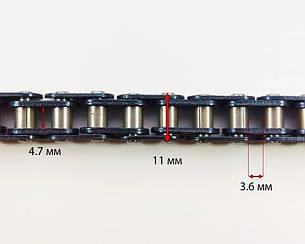 Ланцюг приводу колеса T8F-126L ланки MINIMOTO MiniATV 49сс, фото 2