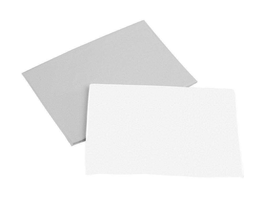 Набір простирадлом Micuna Galaxy для колиски на резинці 2шт., білий/сірий