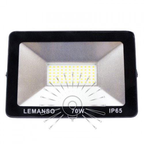 """Прожектор LED 70w 6500K IP65 4200LM LEMANSO """"Посейдон"""" чорний/ LMP73-70"""