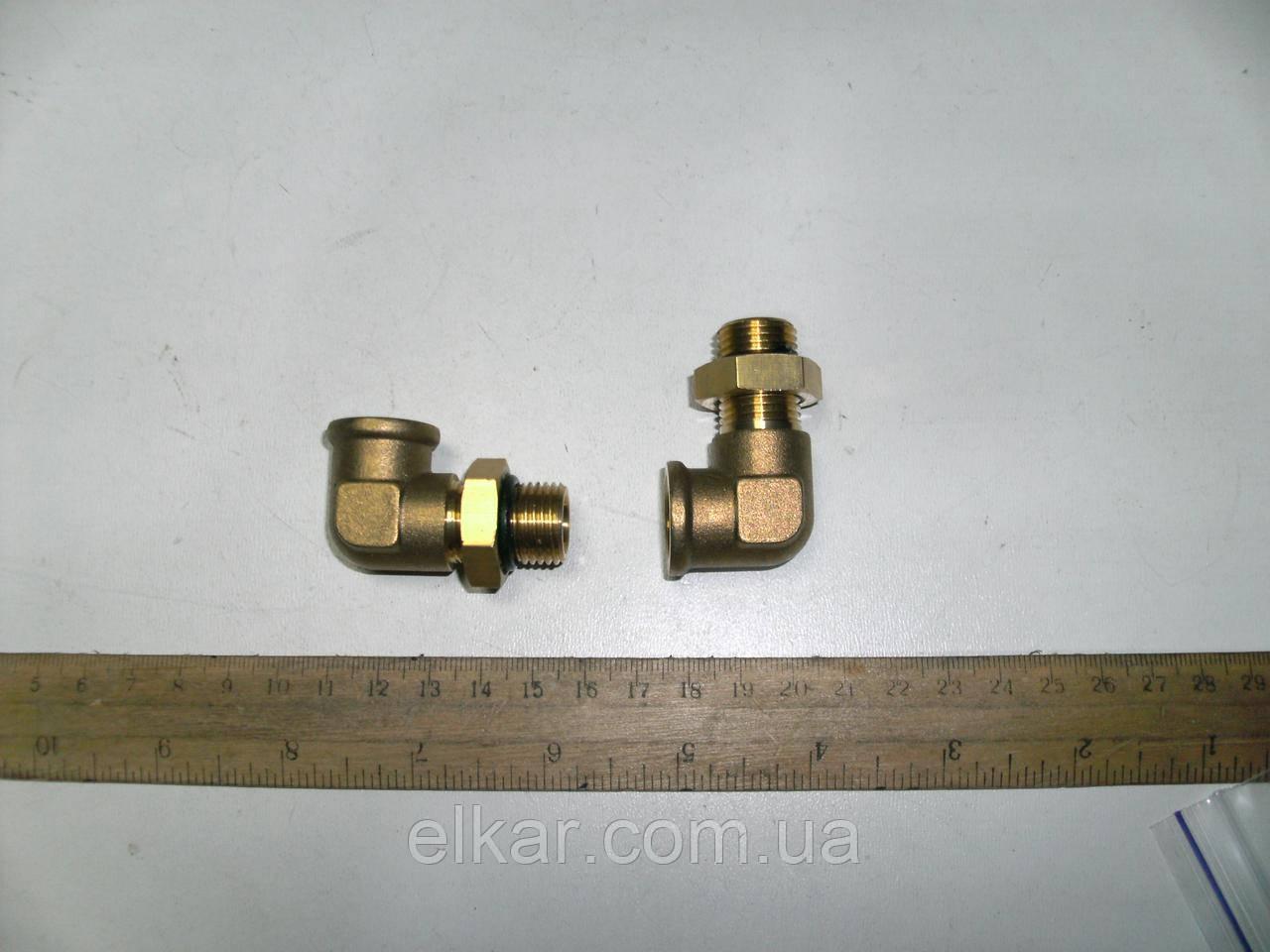 Кутник М16х1,5хМ16х1,5 внутр латунь (ан. SIRIT 71051615)