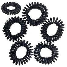 Резинки пружинки для волос черные набор 100 шт