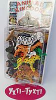 Набор диких животных, на листе, Игрушечный набор фигурок диких животных  YS 2789