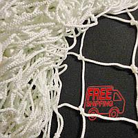 Сетка для мини футбола, футзала, гандбола ворот капроновая «АНТИМОРОЗ 1.1» белая (комплект из 2 шт.)
