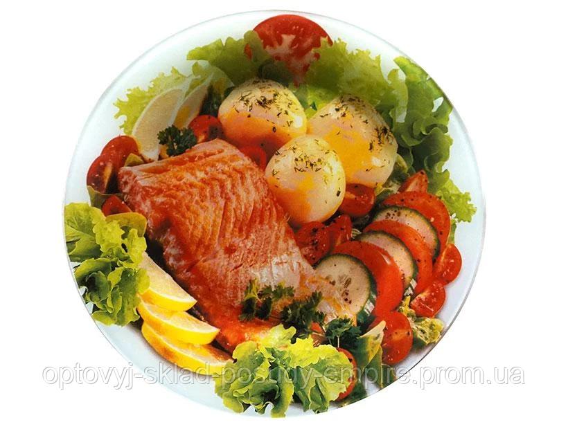 Блюдо круглое стеклянное 30 см Рыба Lumines S-3012-T-315
