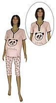Пижама трикотажная с бриджами для беременных и кормления 21010 Panda стрейч-коттон Розовая