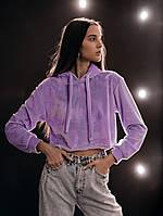 Худі Жіноче вкорочене Intruder Brand бузковий, фіолетовий, фото 1