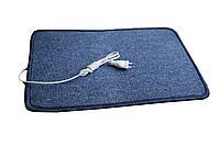 🔝 Електрокилимок з підігрівом (ковролін) - синій,закруглений, килимок з електро утеплювачем Тріо | 🎁%🚚, фото 1