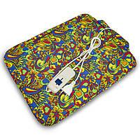 Электрогрелка войлочная 43х32 см (разноцветные цветы) грелка электрическая (електрогрілка) 02103, фото 1