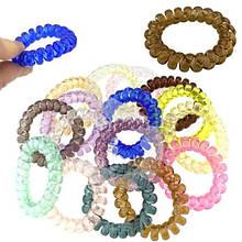 Резинка для волос пружинка блестящая набор 100 шт