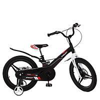 Велосипед двоколісний для хлопчиків з магнієвої рамою, колеса 16 дюймів Hunter PROF1 16 дюймів LMG16235