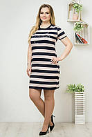 Женские летние платья оптом Синий/Розовый, фото 1