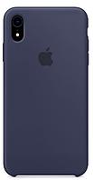 Чехол для iPhone XR Silicone Case бампер (Dark blue)