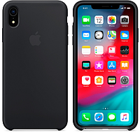 Чехол для iPhone XR Silicone Case бампер (Black)