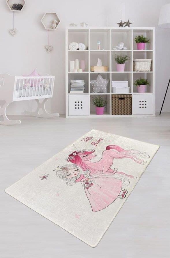 """Безкоштовна доставка! Килим в дитячу """"Маленька принцеса"""" 100х160см."""