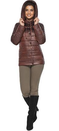 Куртка каштановая женская фирменная модель 61030, фото 2