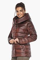 Куртка каштановая женская фирменная модель 61030, фото 3