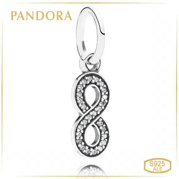 Пандора Срібна підвіска у формі нескінченності Pandora 791351CZ