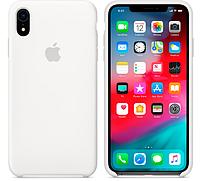 Чехол для iPhone XR Silicone Case бампер (White)