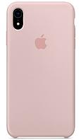 Чехол для iPhone XR Silicone Case бампер (Pink sand)