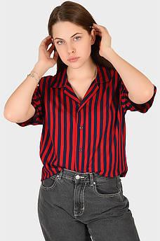 Рубашка женская красная AAA 128908M