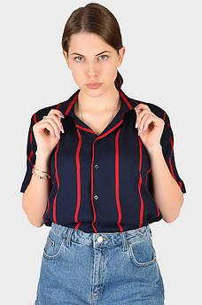 Рубашка женская темно-синяя AAA 128913M