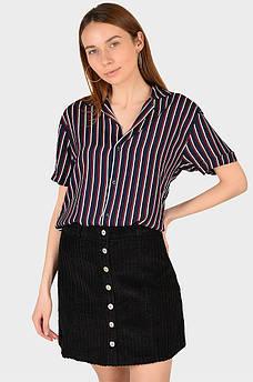 Рубашка женская темно-синяя размер S AAA 128916M