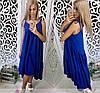 Платье сарафан летнее свободное разлетайка на бретелях, фото 2