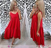Платье сарафан летнее свободное разлетайка на бретелях, фото 3